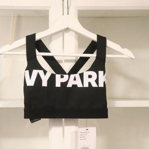 IVY PARK Tops - Ivy Park Logo Sports Bra Black, White XS